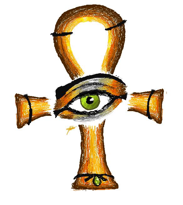 Egyptian Cross Ankh Vector Art Stock Vector 20640733 ...  |Ankh Eygpt Art