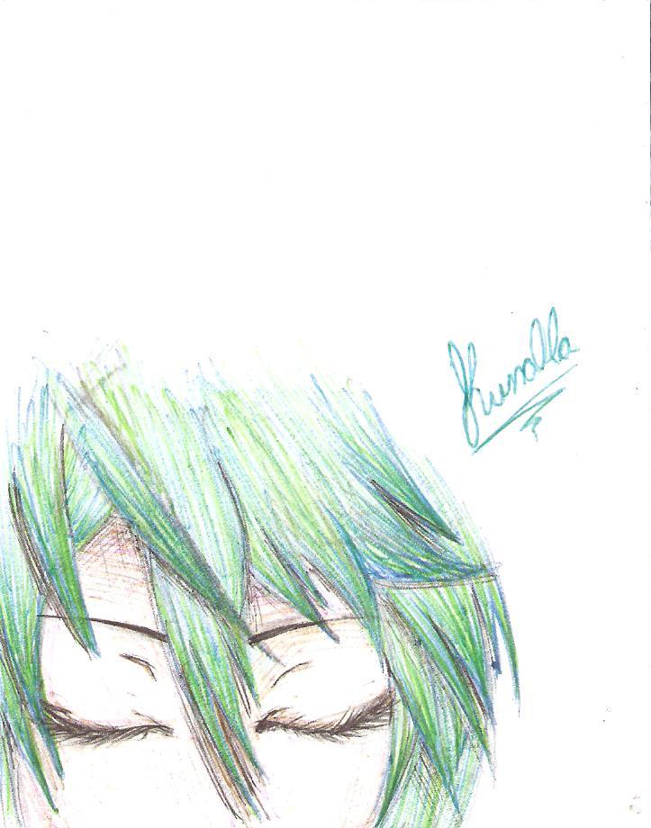 Hatsune Miku detail by Kwno0la