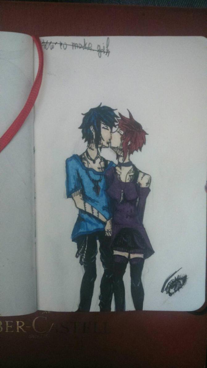 the kiss by Kwno0la