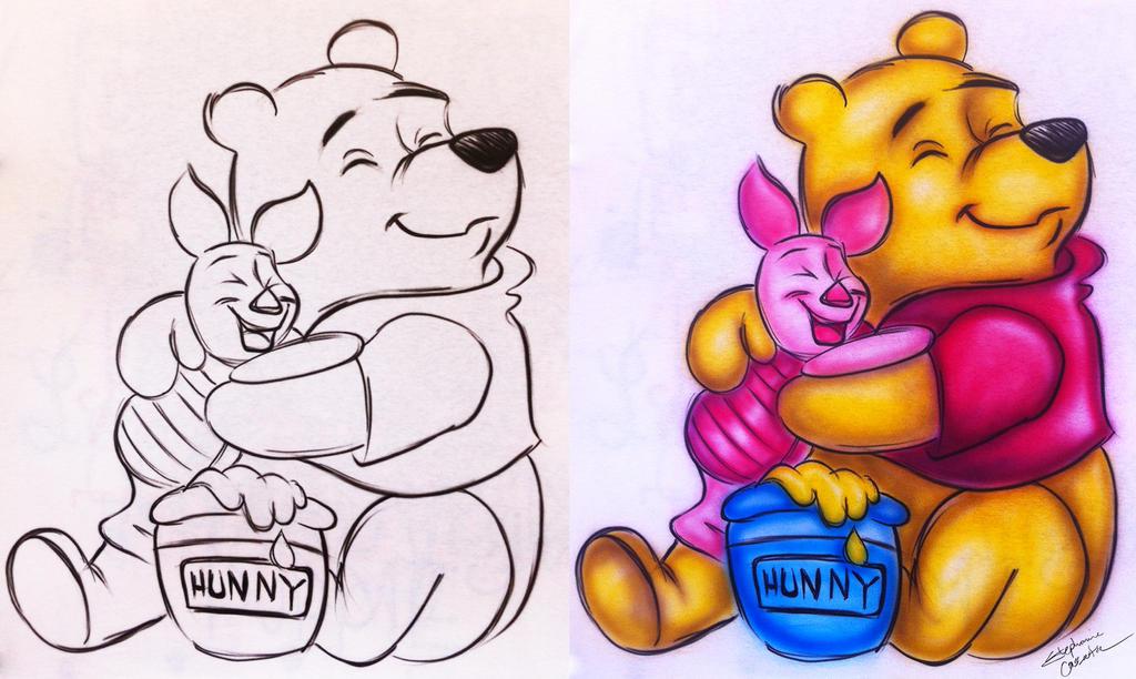 Pooh and Piglet by StephanieCassataArt