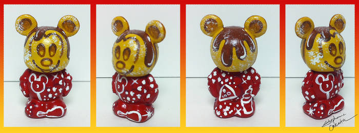 Vinylmation Jr. 1 1/2'' Mickey Waffle Custom by StephanieCassataArt