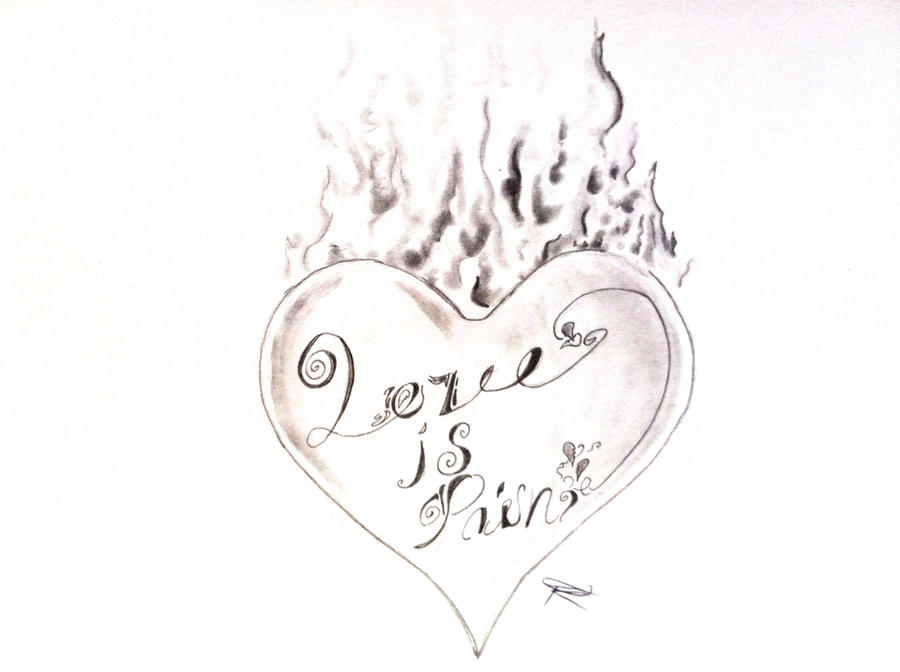 love is pain tattoo design by odrozz on deviantart. Black Bedroom Furniture Sets. Home Design Ideas