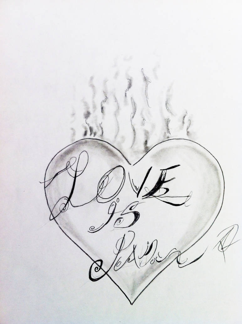 Love Is Pain 2 Tattoo Design With Weird Font By Odrozz On Deviantart
