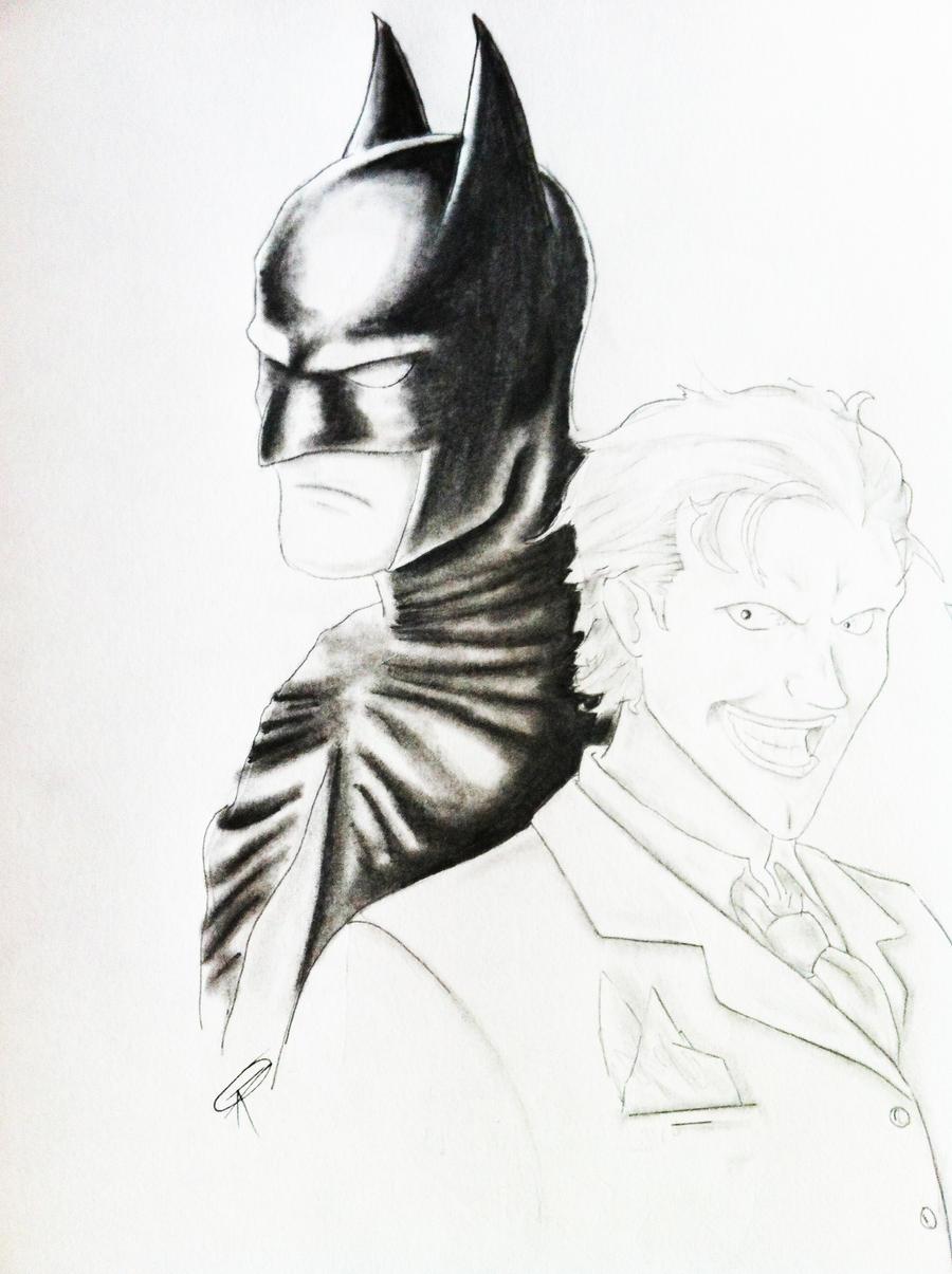 Batman And Joker Sketches Old batman and joker sketch by