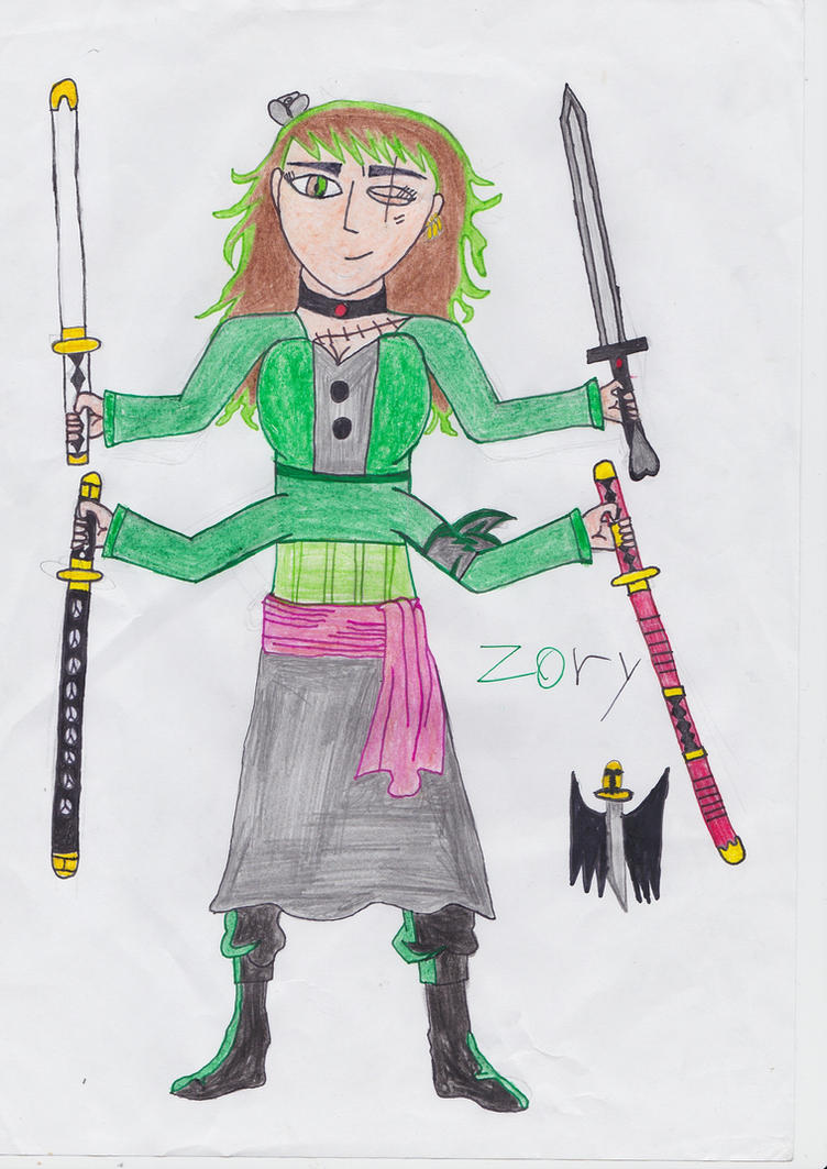 Zoro and Mary fusion-Zory by Vampgurl449