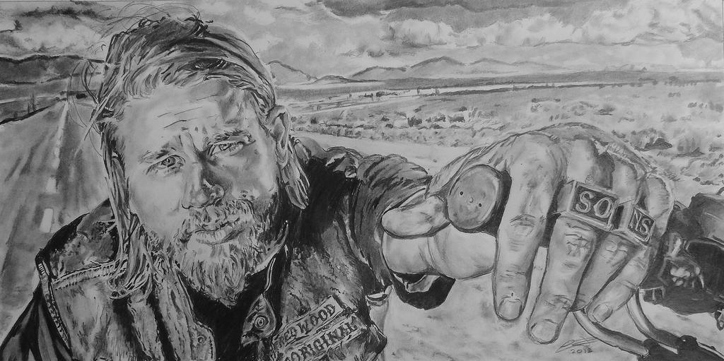 JAX - Charlie Hunnam - The sons of anarchy by jonesy012