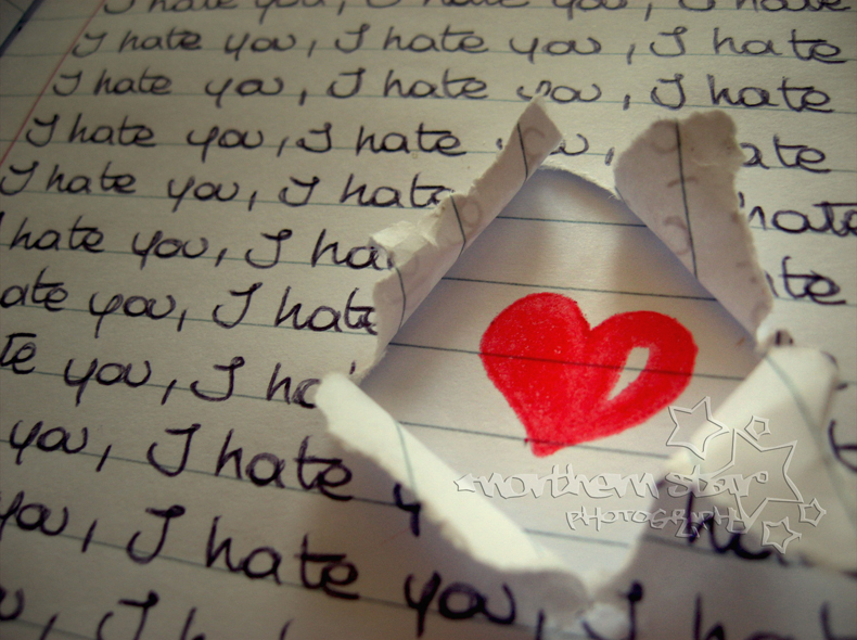 I hate u. by purplerainistaken
