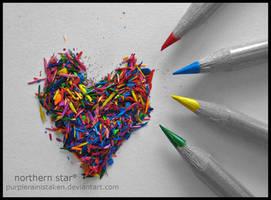 sharpened heart. by purplerainistaken