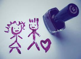 nailpolish love by purplerainistaken