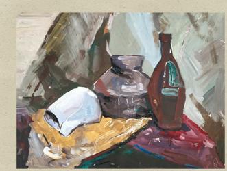 Still-life with a fallen jug by agevla77