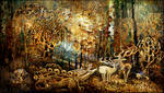 Golden Season in FairyDreamWood by agevla77