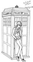 10th Doctor lineart