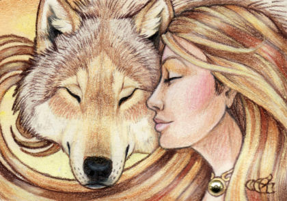 Communion - ACEO by Goldenwolf