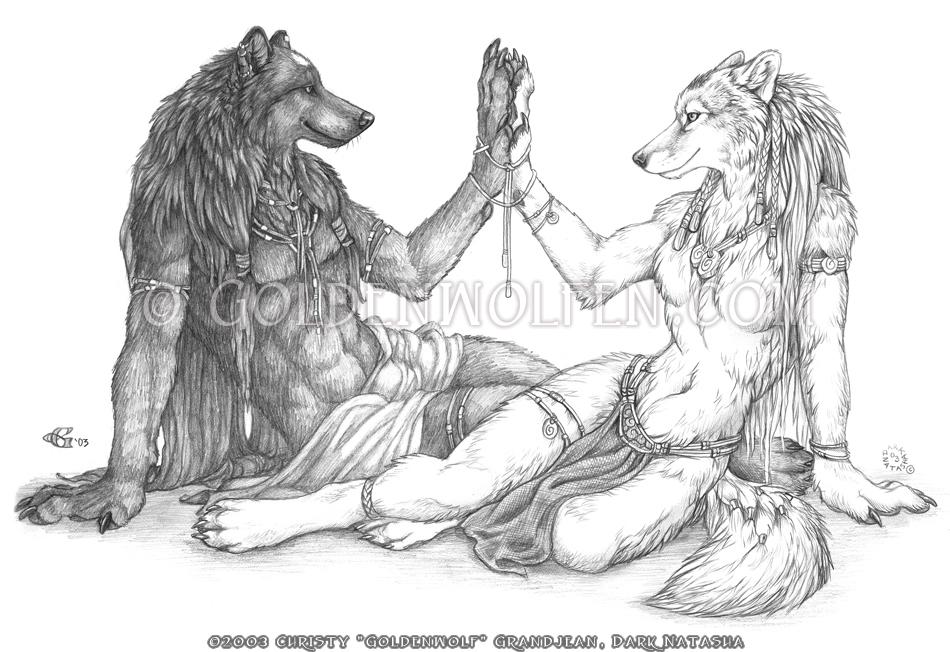 Yin Yang by Goldenwolf