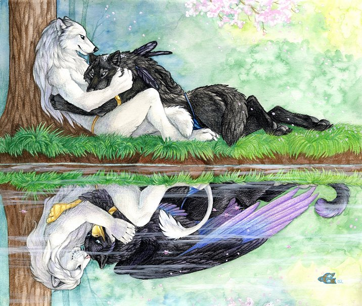 Autres Races Reflecting_love_by_goldenwolf