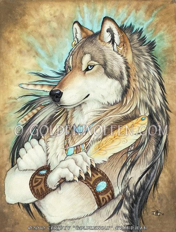 Golden Feather by Goldenwolf