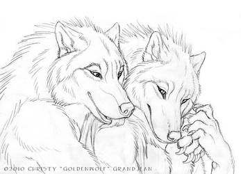 Cuddly Couples - Wolves 03