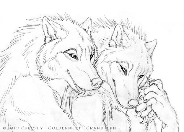 Cuddly Couples - Wolves 03 by Goldenwolf