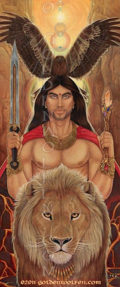 Masculine Divine by Goldenwolf