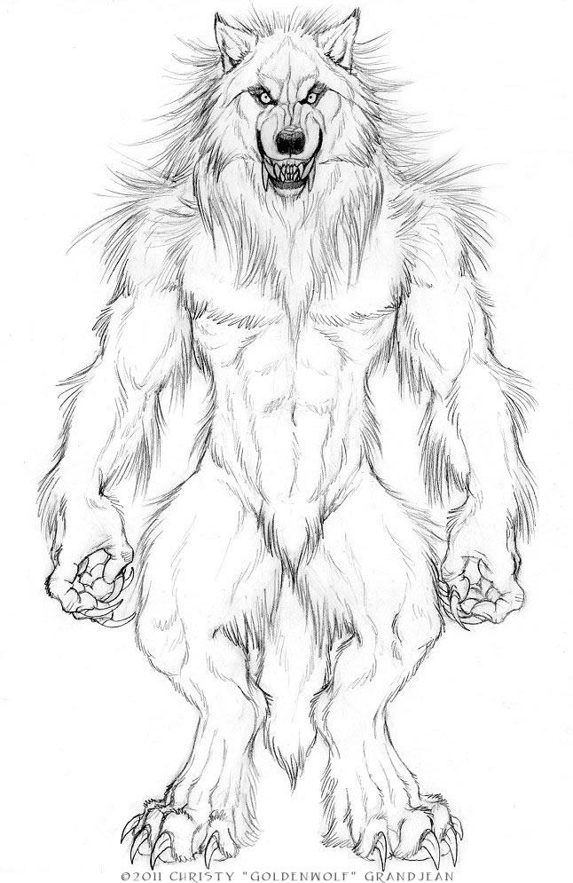 RS-Style Werewolf by Goldenwolf
