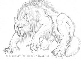 Shaggy Beast by Goldenwolf