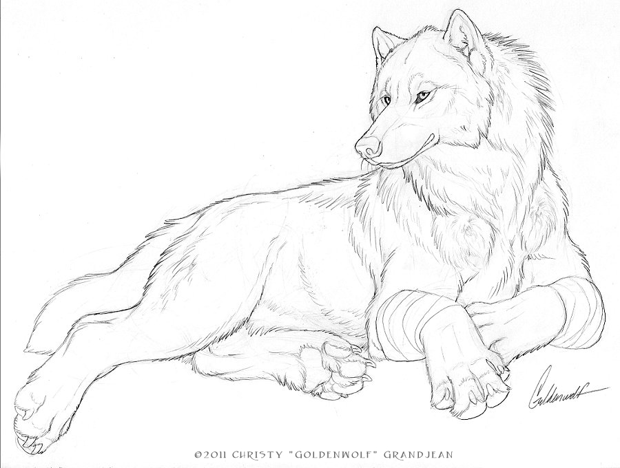 Direwoof by Goldenwolf on DeviantArt