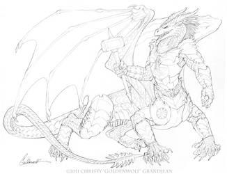 Dragontaur by Goldenwolf