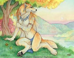 Autumn Lake by Goldenwolf