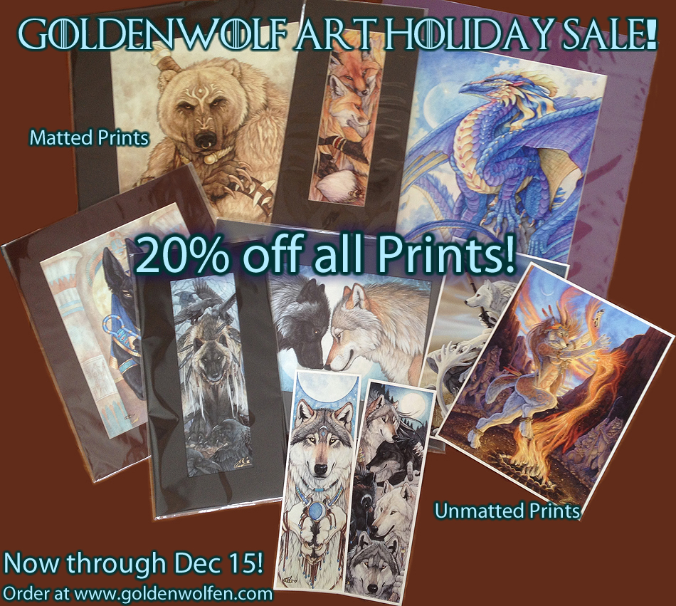 Holiday Print Sale! by Goldenwolf