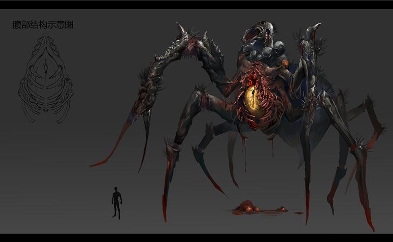 Scream Spider by Tanthalaz