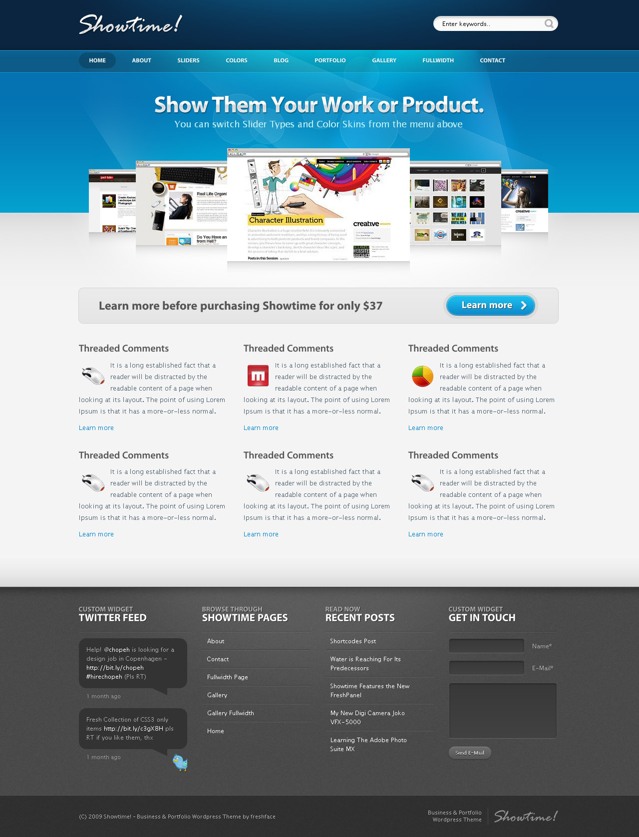 Showtime - Business Portfolio by PremiumThemes