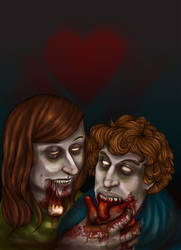 ZombieLove_ABoydArtTrade by padayappa