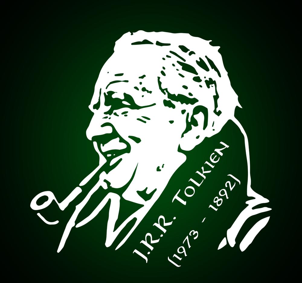 Tolkien Vector Portrait by StrayCatGraphics