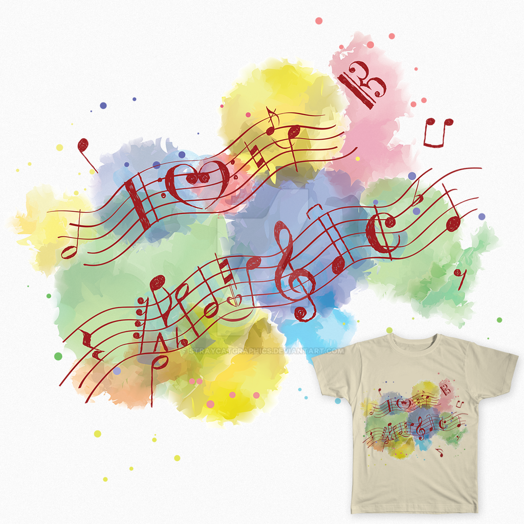 I Love Music by StrayCatGraphics