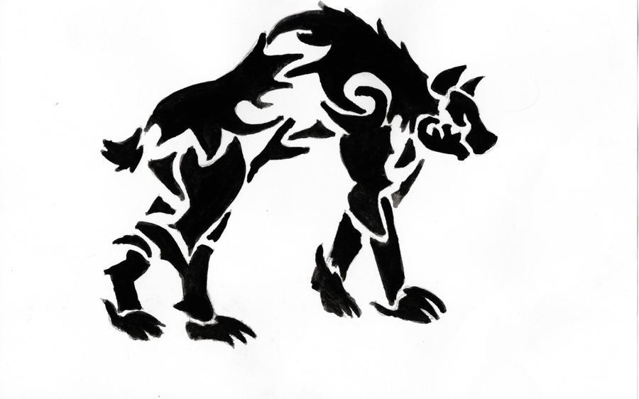 hyena tat design by wolfcub sohla on deviantart. Black Bedroom Furniture Sets. Home Design Ideas