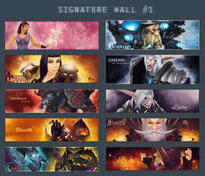 Signature wall 1