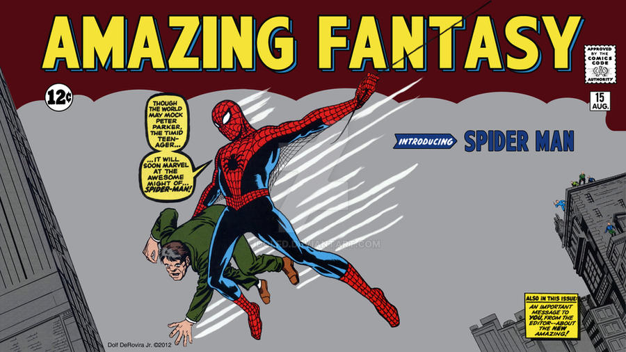 Amazing Fantasy 15 Spider-Man First Appearance by DolfD