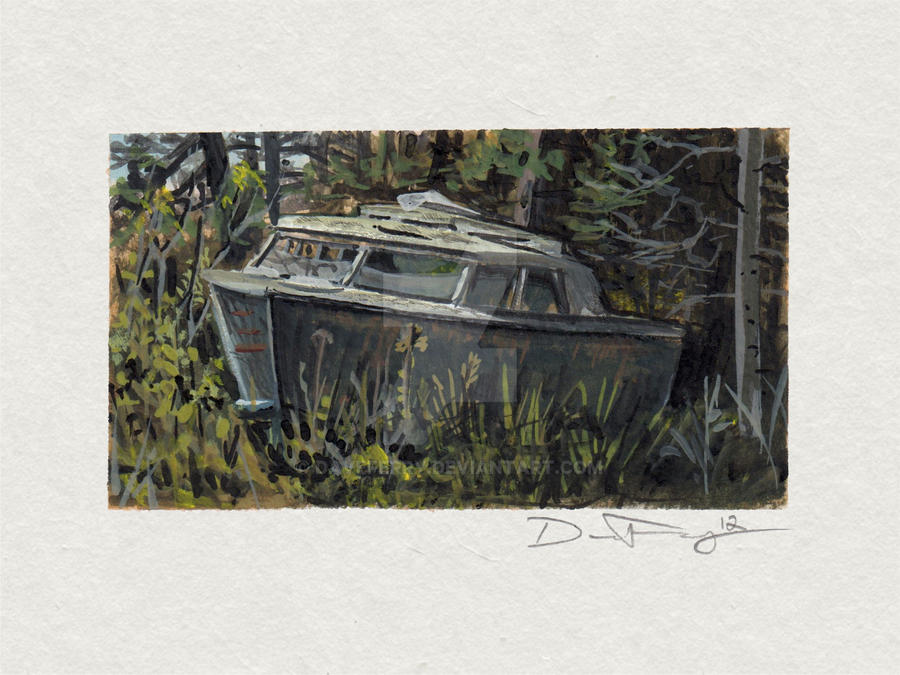 The Old Boat by DaveFerry