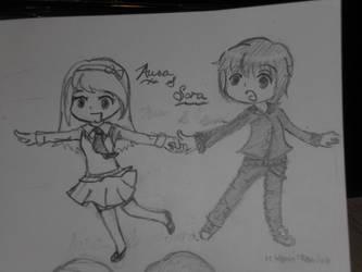 Sora and Aura by XippyRin