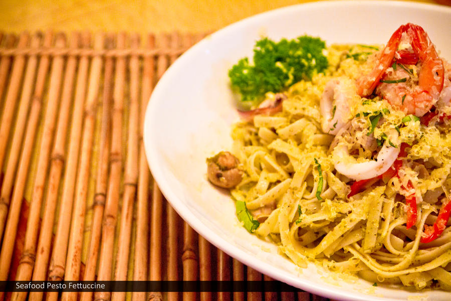 Seafood Pesto Fettuccine by Foodtrip