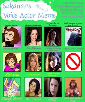 Voice Actor Meme