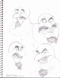 Duke Igthorn Sketch Dump by Kabocha24