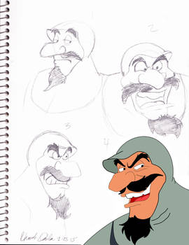 Duke Igthorn Sketch Dump with some color