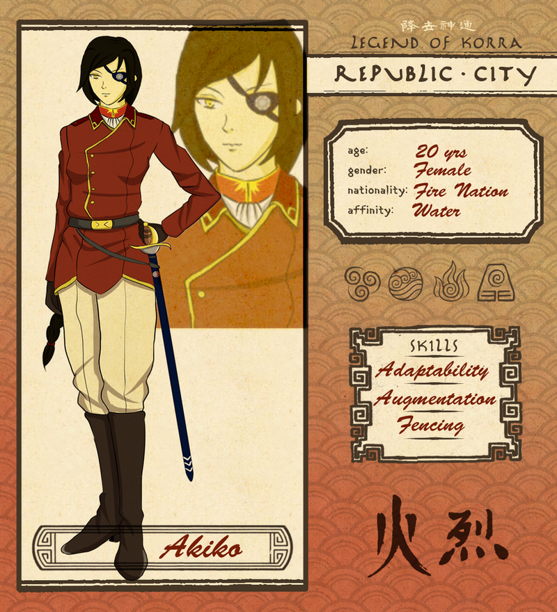 Republic City: Akiko by Drakenzar
