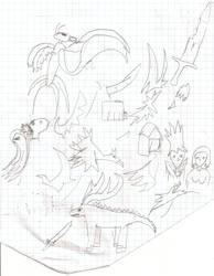 Random School Sketches