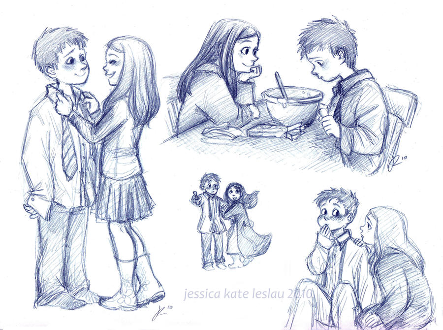 Little Rory and Amelia by DaiskiAnimeJ