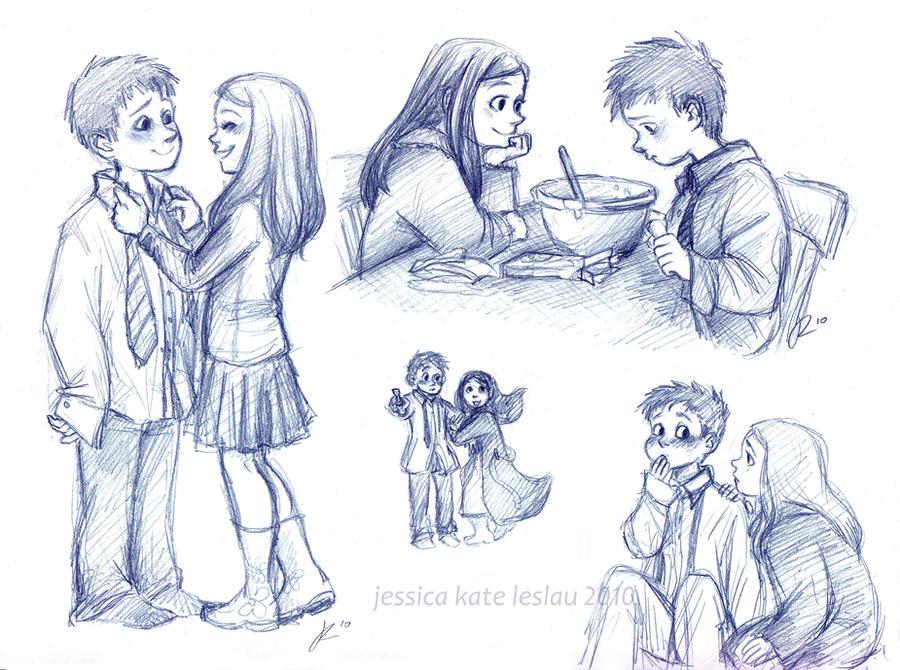 Little Rory and Amelia by DaiskiAnimeJ