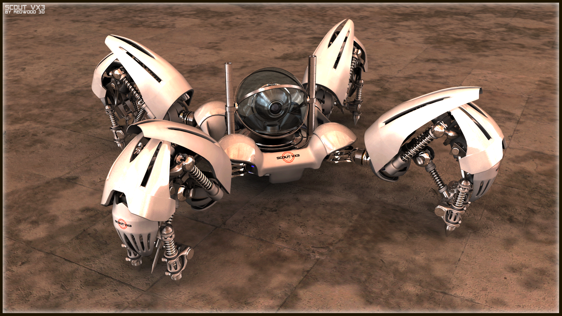 Scout VX3 Recon Bot II by REDWOOD3D