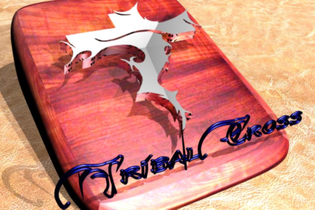 Tribal Cross 3D by redwood19