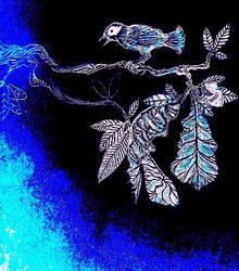 Encino Azul Pajaro Azul by HieronyusBerruecos